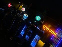Mahou, Stella Artois 4%, Orchard Pig, Camden's and Corona on draught