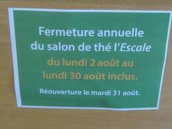 Café Thé Snack L'Escale de La Librairie La Boîte à Livres. Vue 9. Date des Congés Annuels ; du 2 au 30 Août 2021. TOURS.
