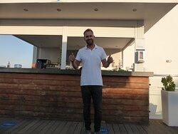Toni. The barman