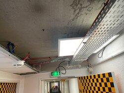 plafond devant la chambre