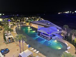 Closed Aqua pool at night