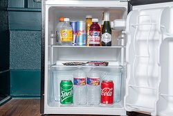 All rooms equipped with a mini fridge stock with complimentary beverages.