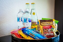 All rooms include a complimentary snack tray.