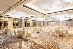 Physical distancing Banquet Setup in Lanexang Ballroom