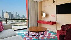 Amazing view of Dubai from your room at Hotel Indigo Dubai