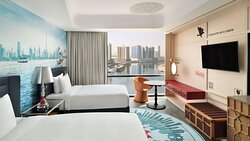 Amazing view of Dubai Creek from your room at Hotel Indigo Dubai