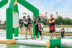There's water fun for the whole family as you climb, bounce and slide your way through Adventure Island.