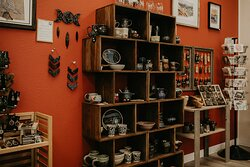 We have pottery from over a dozen different potters, too!
