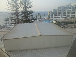 first sea view room, we changed from.