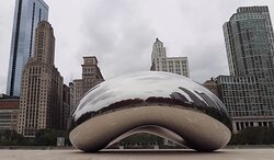 Cloud Gate at 11 minutes drive to the southeast of Chicago dentist Wicker Park Dental Group