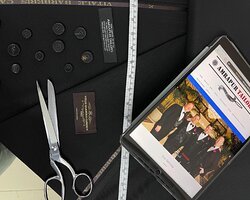 Wedding Suits with Vitale Barberis Canonico, Fabric Made in Italy & Horn Buttons
