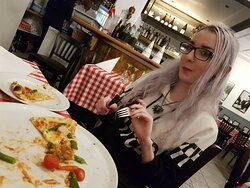 Wanted to take the photo earlier but as you can see, I was a bit too excited and started eating immediately.  :D