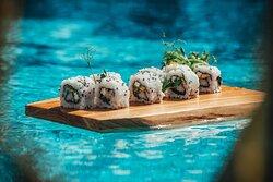 Sushi at Wander Rooftop