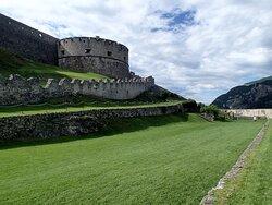 Ampi spazi all'interno del castello