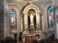 La Vierge à l'Enfant de l'abside de l'Église Notre-Dame-des-Champs