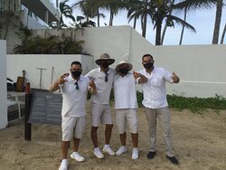 The Beach Concierge group- always ready to make you smile.