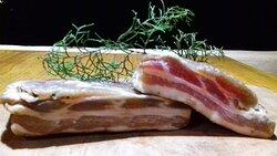 Nosso bacon artesanal. Receita alemã
