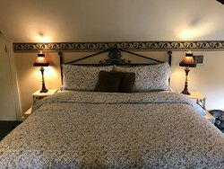 This wonderful king bed is only found in the Schocklehorne Suite.