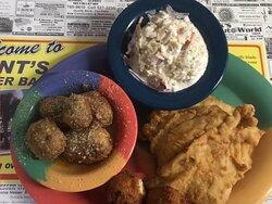 Fried Triggerfish Dinner