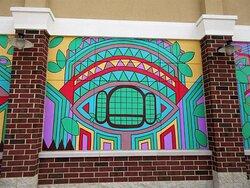 Abstract Public Art: mural (detail)  2. August 2021