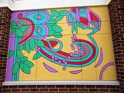 Abstract Public Art: mural Detail) 3. August 2021