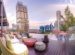 Rooftop Infinity Pool With City View