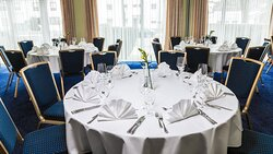 The graceful ballroom, for catered corporate or private events.