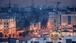 Вечерние виды города с террасы.