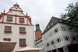 Altes historisches Rathaus, mit Ratskeller und Hausbrauerei... Teil Ansicht...und Umgebung...