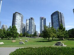 Glimpse of the high rises that now grace Expo 86/Yaletown