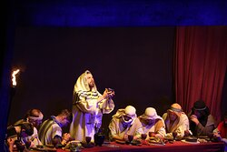 The Last Supper scene at The Great Passion Play in Eureka Springs, Arkansas.