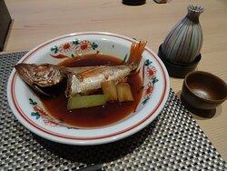 夕食(のどくろの煮つけ)