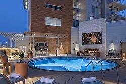Archer Hotel Austin Pool Patio With TVOn