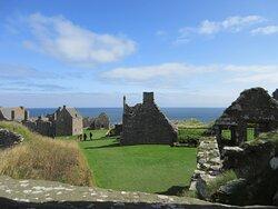 Dunnottar castle looking east towards the chapel.