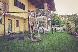 Il giardino, la terrazza e il portico