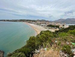 Spiaggia del Serapo dal Santuario