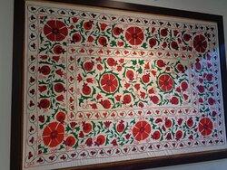 Tu przykład bardzo typowej kolorystyki tkanych wyrobów spotykanych w Pamirze