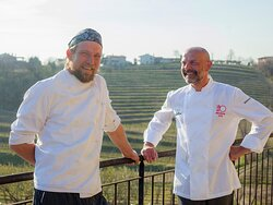 Our two chefs: Primož Bensa and David Bucik