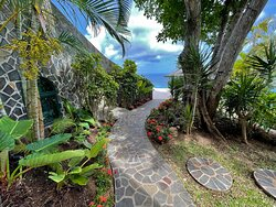 The stone path from the Infinity Studio to the Infinity Pool