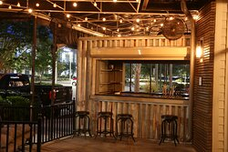 One of our outside bar areas