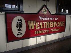 ME - KITTERY - WEATHERVANE - SIGN IN HALLWAY