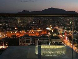 Roof top restaurant view!