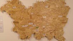 Een kaart met waar de verwerkte producten vandaan komen