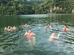 Have fun on Ba Be lake
