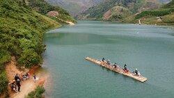 Ha Giang motorbike tour bamboo raft