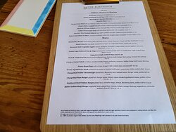 Nibbles, Starters & Sharing menu