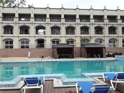 Pool area and valley view rooms
