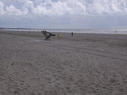 A wide open beach.