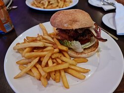 Chicken Burger with Cheese & Bacon