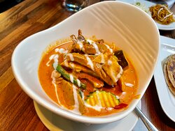 Duck red curry.